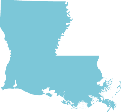 Louisiana state graphic