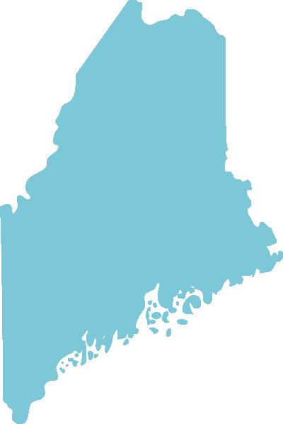 Maine state graphic