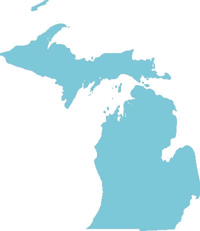 Michigan state graphic