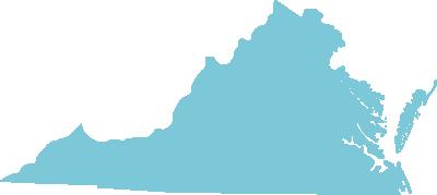Virginia state graphic